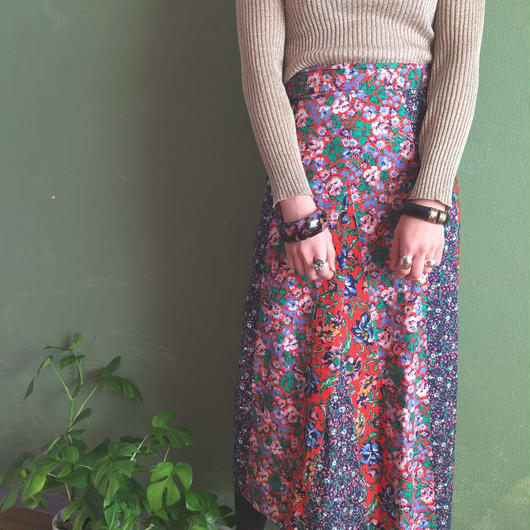 1970s patchwork skirt