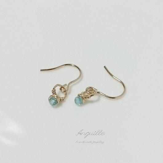 14kgf*Small Ring Series Earrings  [Blue Appetite]*