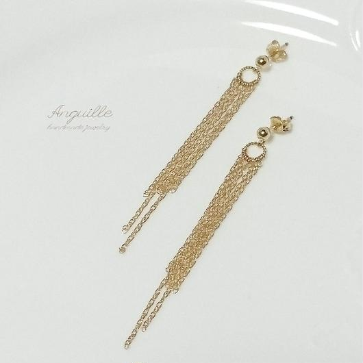 14kgf*Chain Simple Earrings(S)*