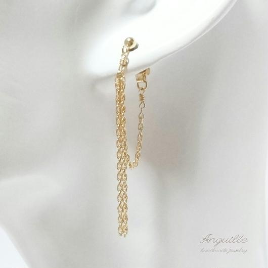 14kgf*Chain Earrings[Chic]*