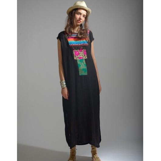VISCOSE刺繍/ジャカード/パッチワークドレス#1753030