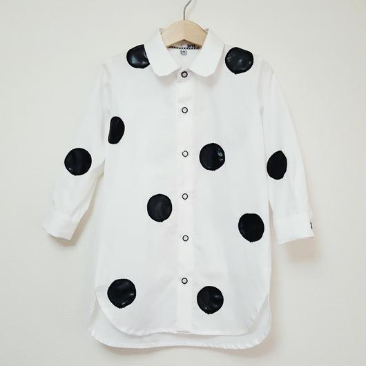 ドットロングシャツ(こども)WHITE