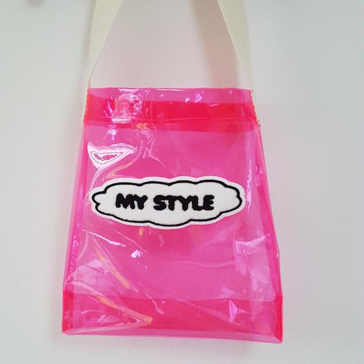 MY STYLE クリアショルダーバッグ(こども)PINK