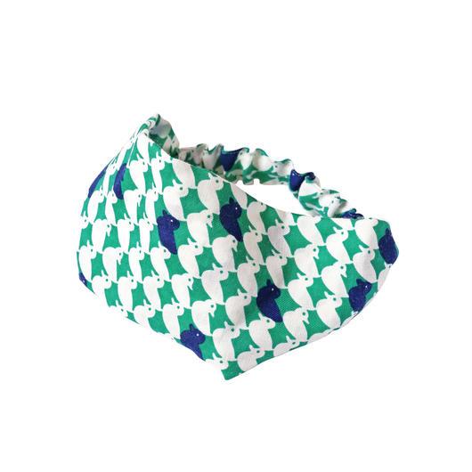 ヘアバンド 鴨(緑)