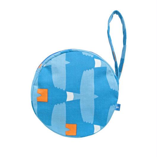 満月ポーチ とんびに油揚げ(青)
