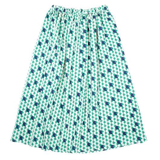 ロングスカート 鴨(緑)