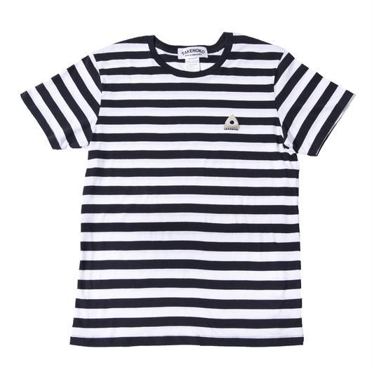 T▲KENOKO Icon Stripe Tee White×Black