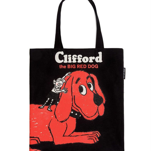 Out of Print Clifford the Big Red Dog Tote Bag / アウトオブプリント おおきいあかい クリフォード トートバッグ ブラック