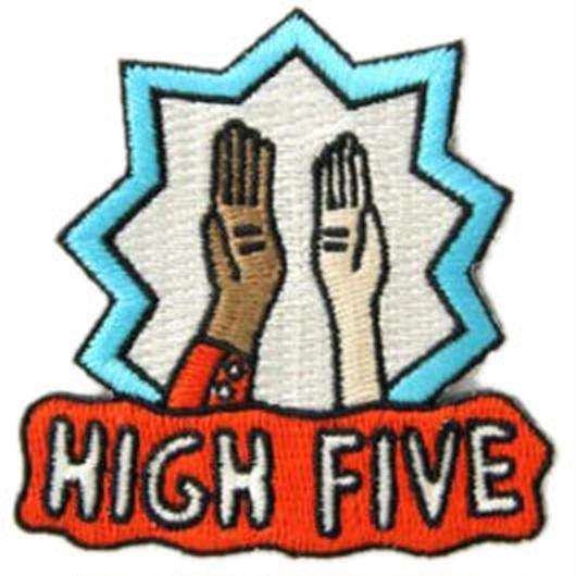 MOKUYOBI IRON ON PATCH ''HIGH FIVE'' / モクヨウビ アイロンパッチ ワッペン