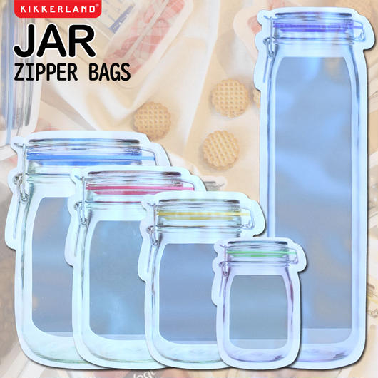 KIKKERLAND JAR ZIPPERBAG/キッカーランド ジャー ジッパーバッグ 保存袋