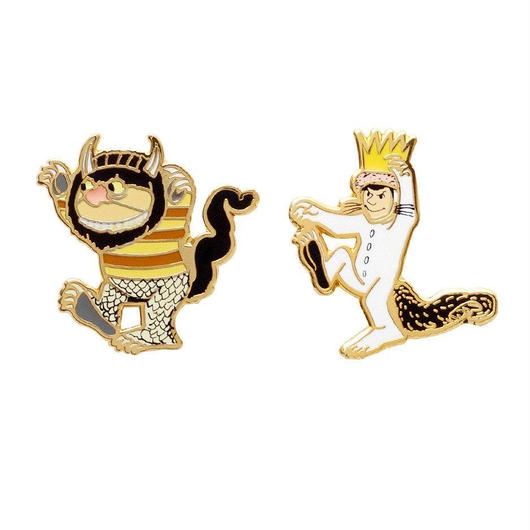 Out of Print Where the Wild Things Are Pins Set / アウトオブプリント かいじゅうたちのいるところ ピンズ 2個セット