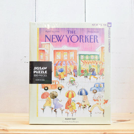 "New York Puzzle Company The New Yorker ""Rainy Day""500pc/ザ・ニューヨーカー ジグソーパズル 500ピース"