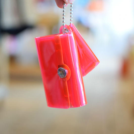 SALLIES MINIMAL WALLET ''Pocket Pal'' PINK / サリーズ ミニマルウォレット PVC 財布 コインケース ピンク