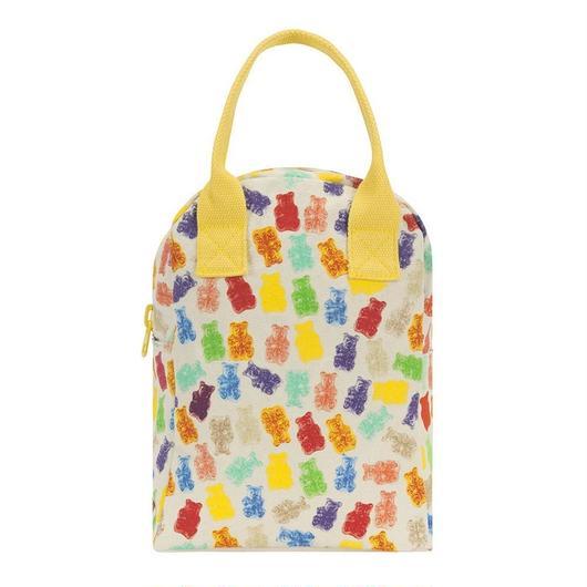 FLUF ZIPPER LUNCH BAG GUMMIES / フラフ  キャンバス ジッパーランチバッグ