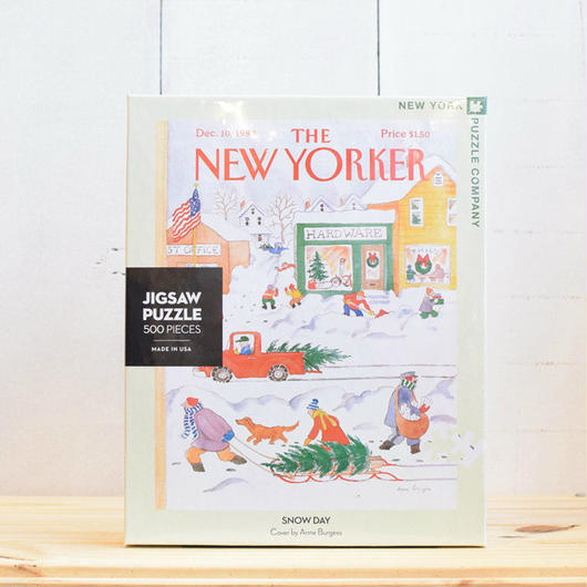 "New York Puzzle Company The New Yorker ""Snow Day""500pc/ザ・ニューヨーカー ジグソーパズル 500ピース"