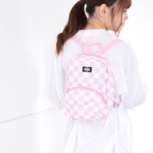 DICKIES MINI BACKPACK CHECKER PINK / ディッキーズ ミニ バックパック  チェッカー ピンク