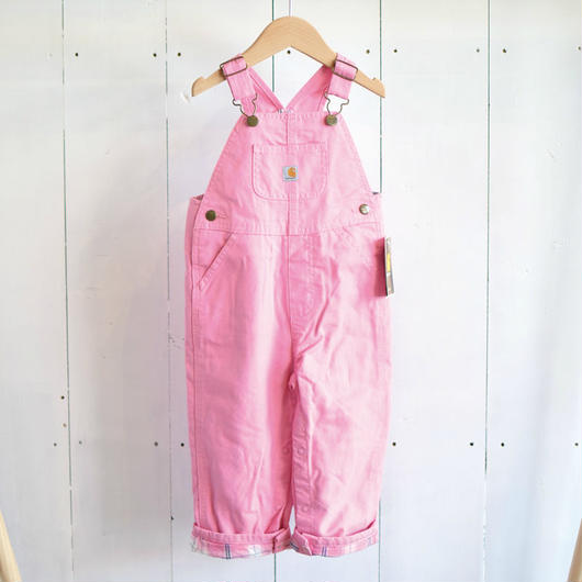 CARHARTT KIDS FLANNEL LINED CANVAS OVERALL PINK / カーハート キッズ フランネルライン キャンバス オーバーオール ピンク