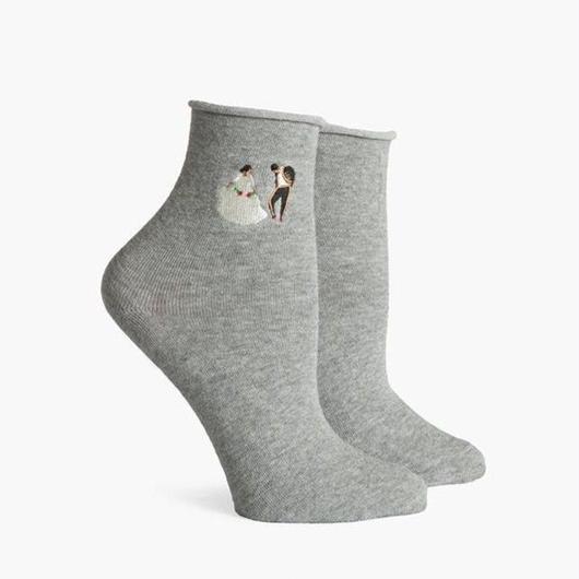 RICHER POORER WOMEN'S ANKLE SOCKS ''DANCER'' GREY / リッチャープアラー レディース アンクルソックス 靴下 ダンサー グレー