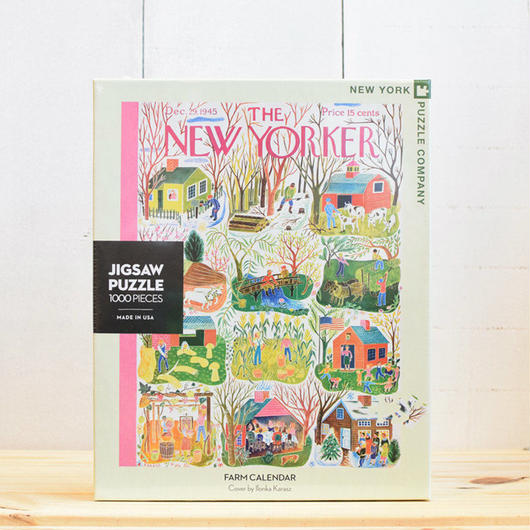 "New York Puzzle Company The New Yorker ""Farm Carendar""1000pc/ザ・ニューヨーカー ジグソーパズル 1000ピース"