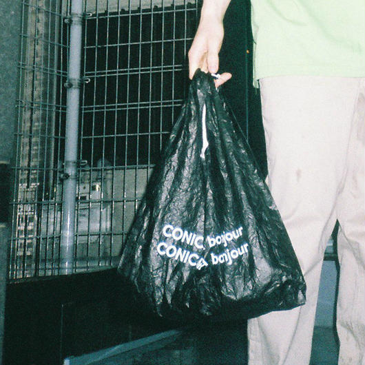 CONICHIWA bonjour TYVEK PLASTIC BAG BLACK