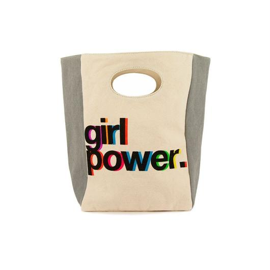 FLUF CLASSIC LUNCH BAG GIRL POWER / フラフ クラシック キャンバス ランチバッグ