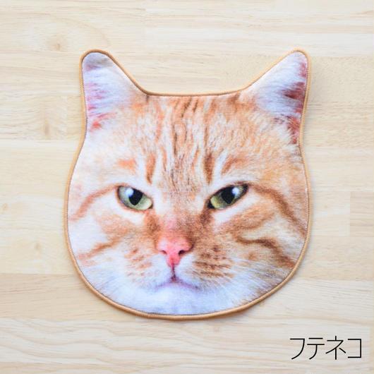 REALISTIC MOTIF TOWEL CAT/リアルモチーフハンドタオル フテネコ