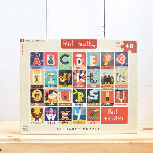 """New York Puzzle Company """"Alphabet""""48pc / ニューヨークパズルカンパニー キッズ ジグソーパズル 48ピース"""