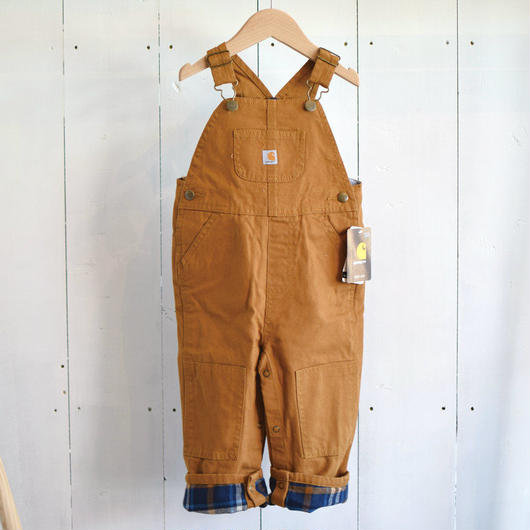 CARHARTT KIDS FLANNEL LINED CANVAS OVERALL BROWN / カーハート キッズ フランネルライン キャンバス オーバーオール ブラウン