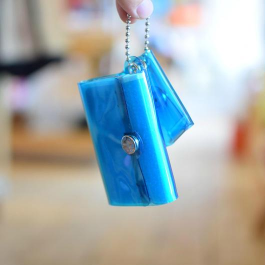 SALLIES MINIMAL WALLET ''Pocket Pal'' BLUE / サリーズ ミニマルウォレット PVC 財布 コインケース ブルー