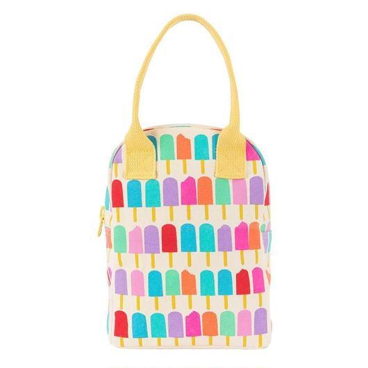 FLUF ZIPPER LUNCH BAG POPSICLE / フラフ  キャンバス ジッパーランチバッグ