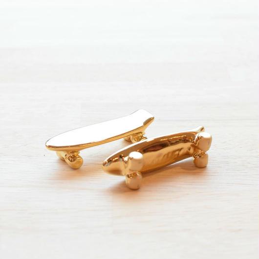 TALKY PIKA PIKA SKATEBOARD CHOPSTICK REST GOLD / トーキー スケートボード 箸置き ゴールド