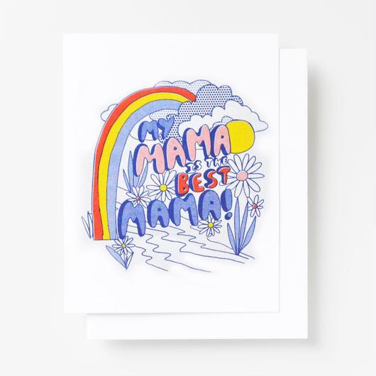 "YELLOW OWL WORKSHOP RISOGRAPH PRINT CARD""BEST MOM""/ イエロー・オウル・ワークショップ リソグラフプリントカード"