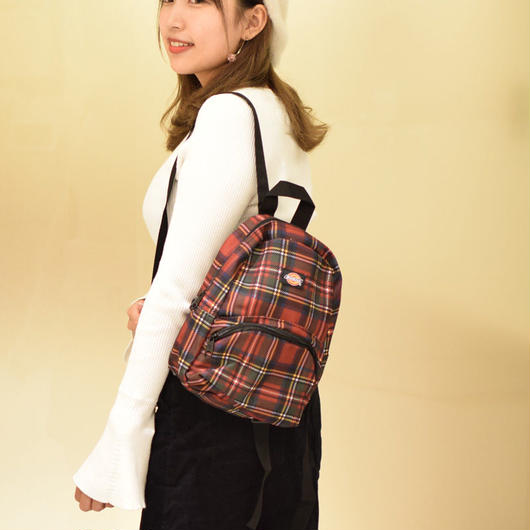 DICKIES PLAID MINI BACK PACK RED / ディッキーズ プレイド チェック ミニ バックパック  レッド