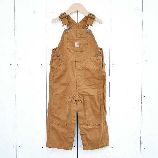 CARHARTT KIDS CANVAS OVERALL BROWN / カーハート キッズ キャンバス オーバーオール ブラウン