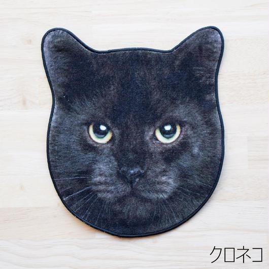 REALISTIC MOTIF TOWEL CAT/リアルモチーフハンドタオル クロネコ
