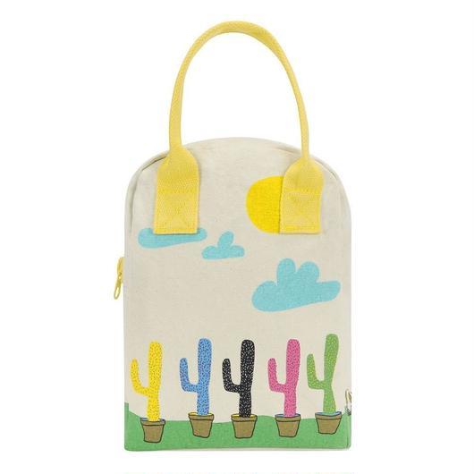 FLUF ZIPPER LUNCH BAG CACTUS / フラフ  キャンバス ジッパーランチバッグ