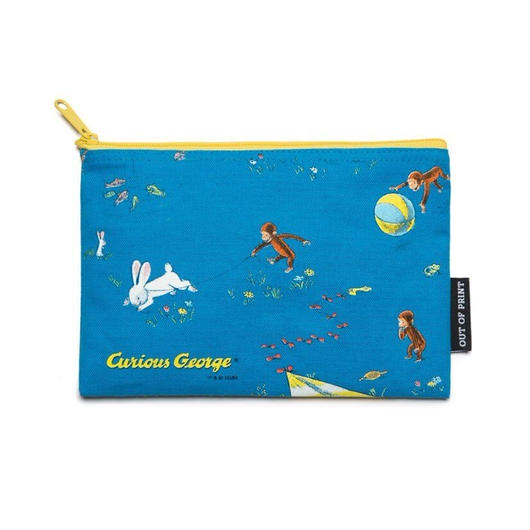 Out of Print Curious George Canvas Pouch / アウトオブプリント おさるのジョージ キャンバスポーチ ブルー