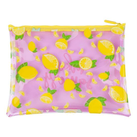 SUNNYLIFE See Thru Zip Pouch Lemon / サニーライフ シースルー ジップポーチ レモン