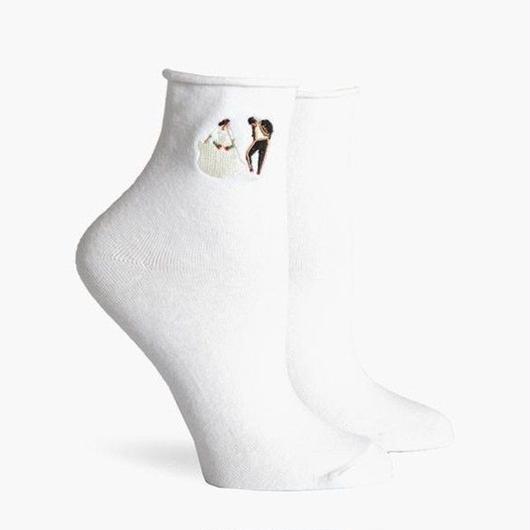 RICHER POORER WOMEN'S ANKLE SOCKS ''DANCER'' WHITE / リッチャープアラー レディース アンクルソックス 靴下 ダンサー ホワイト