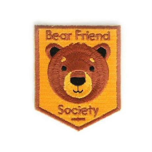 MOKUYOBI IRON ON PATCH ''BEAR FRIEND SOCIETY'' / モクヨウビ アイロンパッチ ワッペン