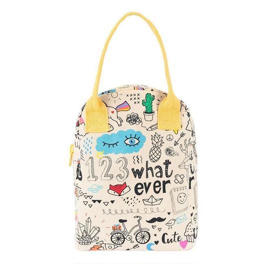 FLUF ZIPPER LUNCH BAG WHATEVER / フラフ  キャンバス ジッパーランチバッグ