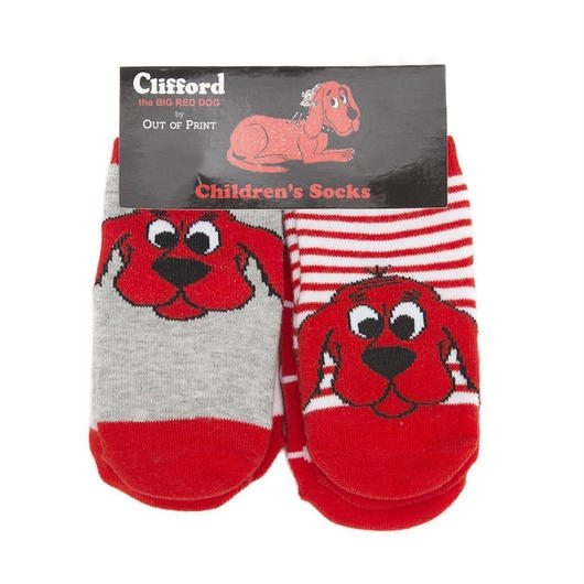Out of Print Clifford the Big Red Dog 4pc Baby Socks / アウトオブプリント おおきいあかい クリフォード ベビー ソックス 4足セット