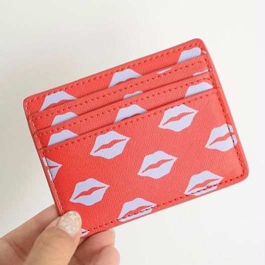 URBAN OUTFITTERS LIPS CARD CASE RED / アーバンアウトフィッターズ リップ カードケース レッド