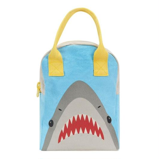 FLUF ZIPPER LUNCH BAG SHARK / フラフ  キャンバス ジッパーランチバッグ
