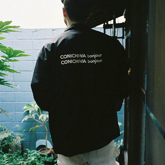 CONICHIWA bonjour  CB COACH JACKET BLACK