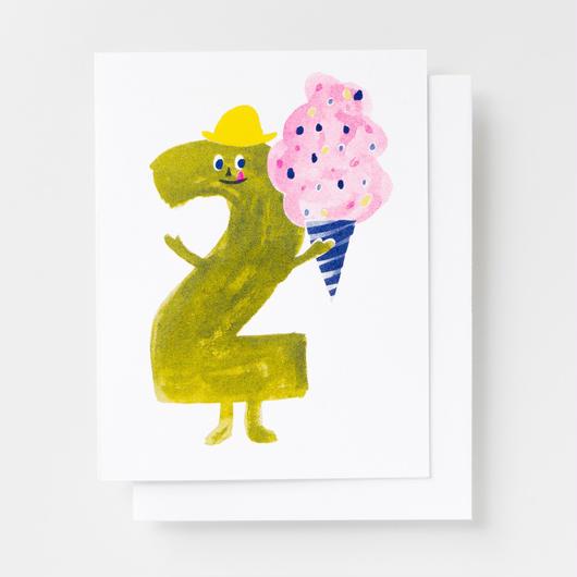 "YELLOW OWL WORKSHOP RISOGRAPH PRINT CARD""BIRTHDAY2""/ イエロー・オウル・ワークショップ リソグラフプリントカード"