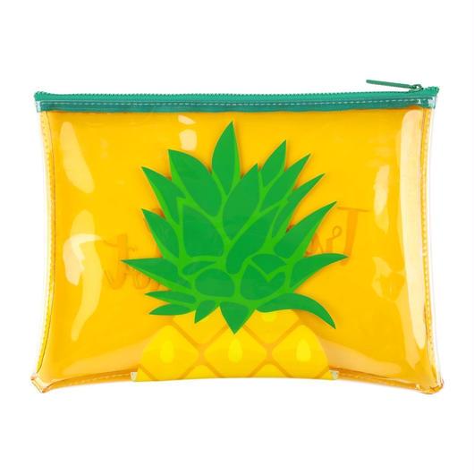SUNNYLIFE See Thru Zip Pouch Pineapple / サニーライフ シースルー ジップポーチ パイナップル