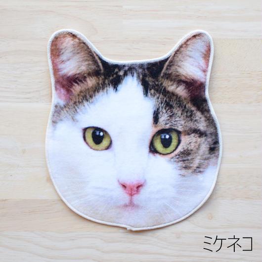 REALISTIC MOTIF TOWEL CAT/リアルモチーフハンドタオル ミケネコ