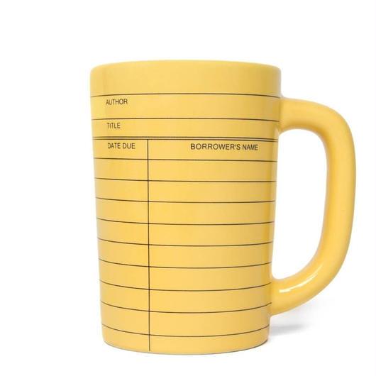 Out of Print Library Card Mug Yellow / アウトオブプリント ライブラリーカード マグカップ イエロー