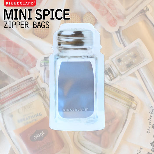 KIKKERLAND MINI SPICE ZIPPER BAG/キッカーランド ミニスパイス ジッパーバッグ